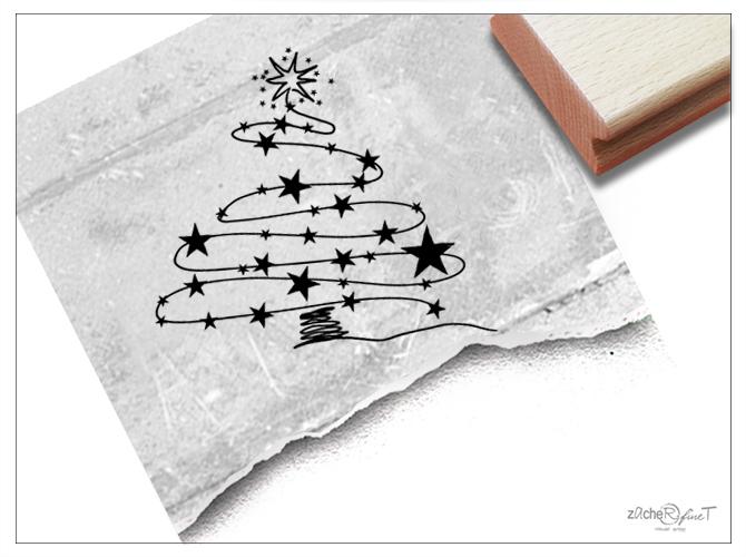 Sterne Für Weihnachtsbaum.Weihnachtsstempel Weihnachtsbaum Sterne