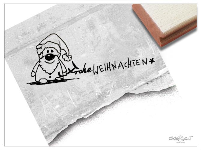 Text Frohe Weihnachten.Stempel Frohe Weihnachten Weihnachtsmann