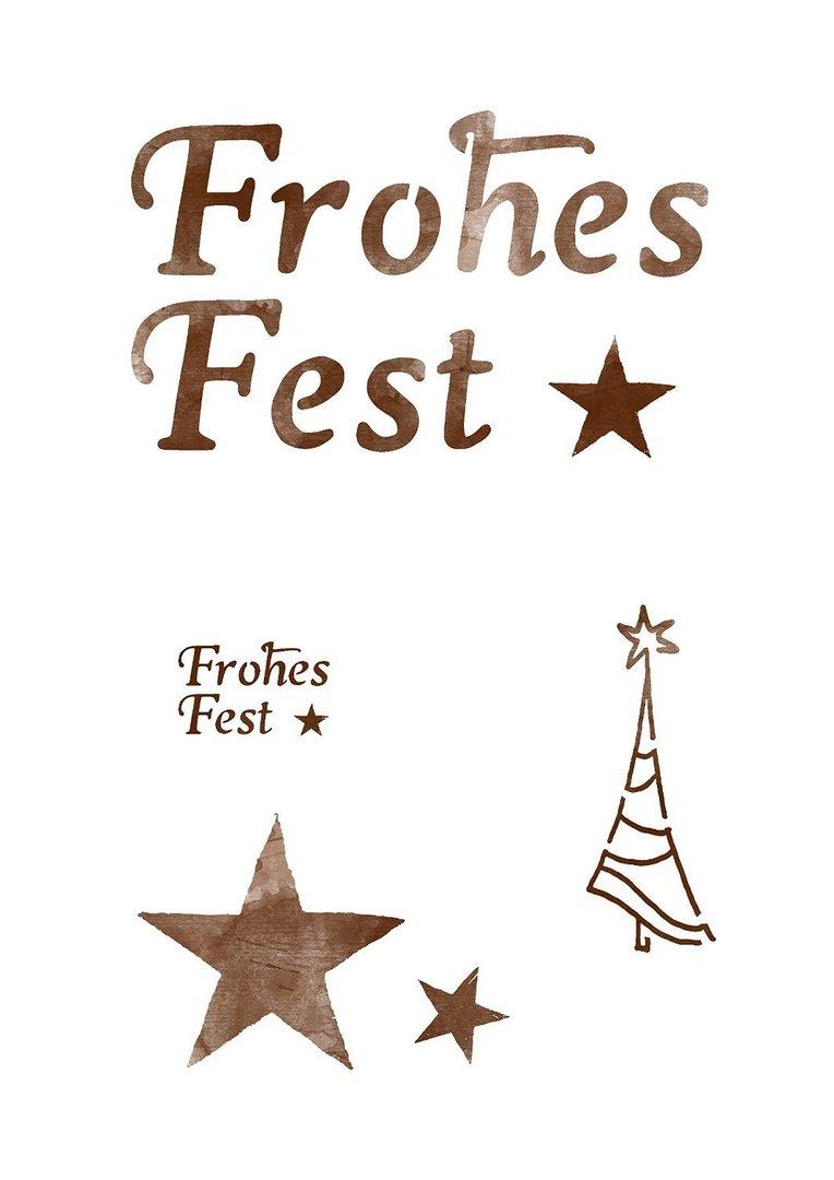 Schablone Frohe Weihnachten.Schablone Frohes Fest Mit Stern