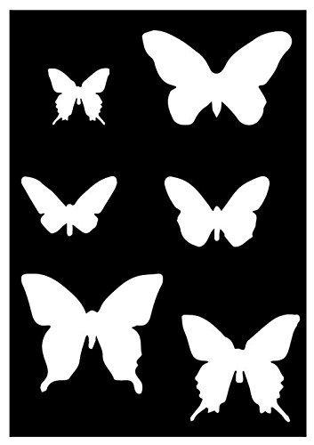Schablone Kunststoffschablone Schmetterlinge für Acrylmalerei und ...