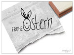 Osterstempel - FROHE OSTERN mit Hase