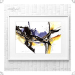 Kunstdruck Watercolor Abstract Blue